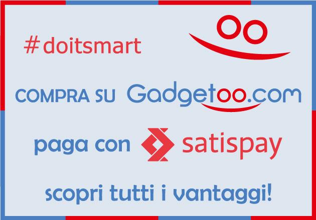 Articoli promozionali: compra su Gadgetoo, paga con Satispay!