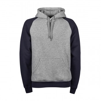 2-Tone Hooded Sweat 70%C30%P