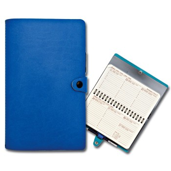 Agenda con copertina a portafoglio con bottone