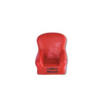 Antistress  a forma di poltroncina portacellulare in colore rosso.