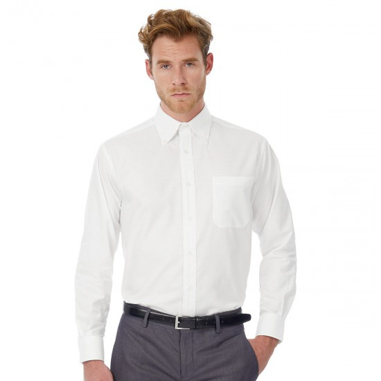 B&C Oxford LSL /men 70%C30%P