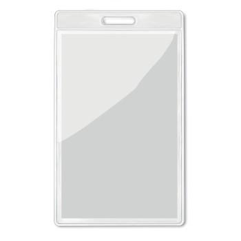 BADGO - Porta badge trasparente 7,5x12
