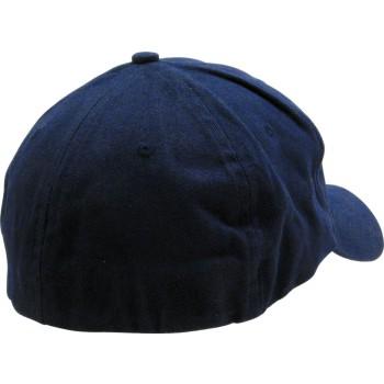 Berrettino   in cotone spazzolato ed elasticizzato, con visiera precurvata, senza la tradizionale chiusura posteriore.