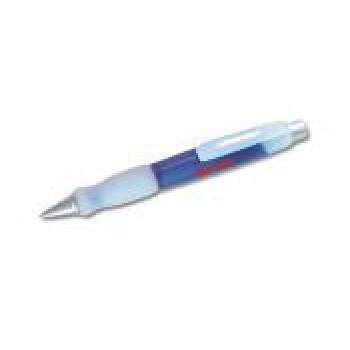 Big pen fusto frosted colore blu impugnatura gomma finiture silver refil blu