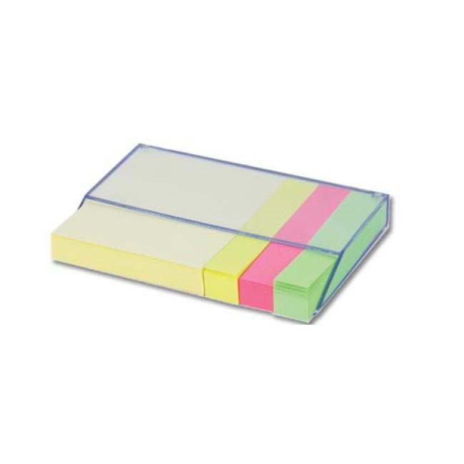 Blocchetti  adesivi base in plastica trasparente. Confezione in nylon.