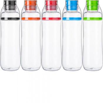 Borraccia in plastica trasparente, capacità 750 ml