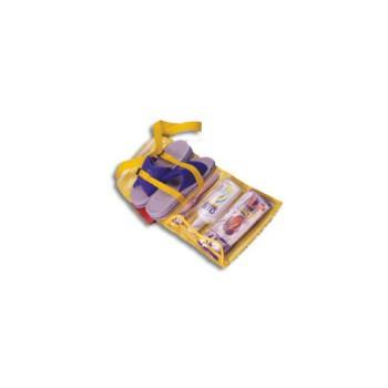 Borsa  in pvc giallo ideale per la spiaggia, tracolla e utili tasche.