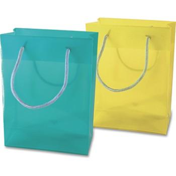 Borsa  shopping translucida in colore verde pratica ed elegante.