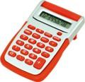 Calcolatrice tronic da tavolo 8 cifre grigio/rossa